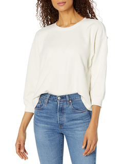 Sarah Soft Fleece 3/4 Puff Sleeve Sweatshirt Velvet by Graham & Spencer