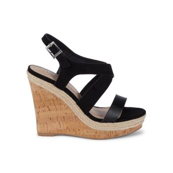 Aaliyah Cork Wedge Platform Sandals Charles by Charles David