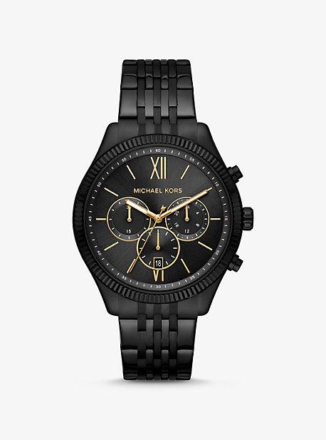 Крупногабаритные часы Benning в черном цвете Michael Kors