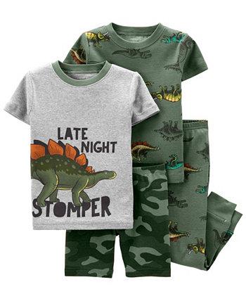Пижама Snug Fit для маленьких мальчиков с динозавром, комплект из 4 предметов Carter's
