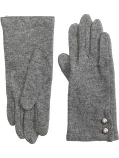 Сенсорные перчатки из смеси кашемира с двумя пуговицами Ralph Lauren