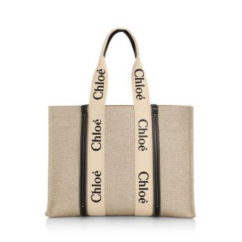 Большая сумка-тоут из плотной ткани Woody Chloe