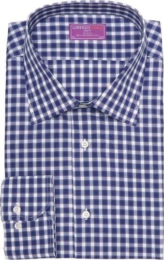 Классическая рубашка в клетку с отделкой и отделкой Lorenzo Uomo
