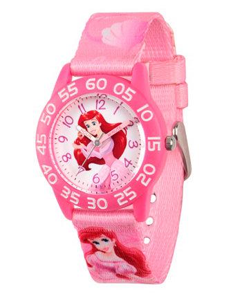 Розовые пластиковые часы для учителей Disney Princess Ariel Girls Ewatchfactory
