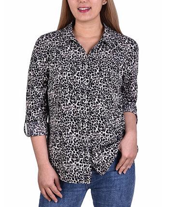 Женская рубашка 3/4 Roll Tab с карманами NY Collection