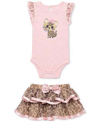 Комплект боди и юбки из 2 предметов с леопардовым принтом для маленьких девочек Baby Starters