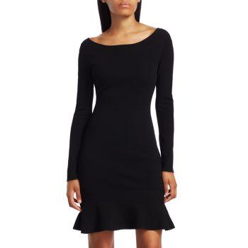 Платье Tara с длинными рукавами и оборками Bailey 44