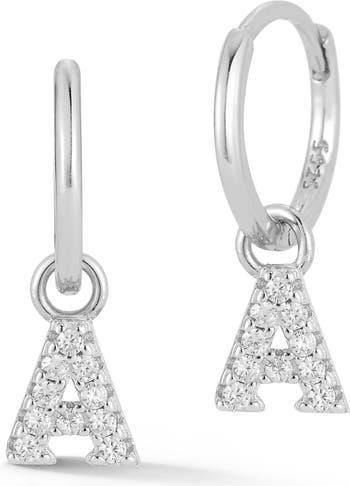 Серебряные серьги с инициалами Sphera Milano
