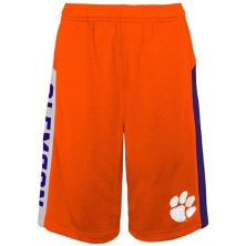 Youth Orange Clemson Tigers Down The Field Mesh Shorts Outerstuff
