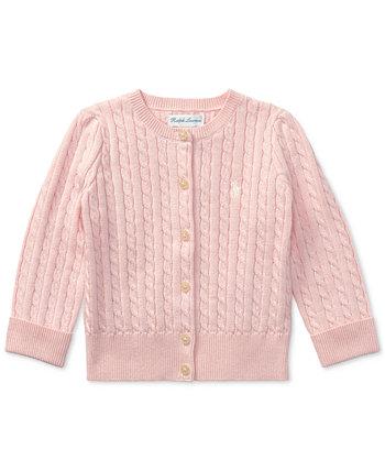Кардиган для новорожденных девочек Ralph Lauren с косичками Ralph Lauren