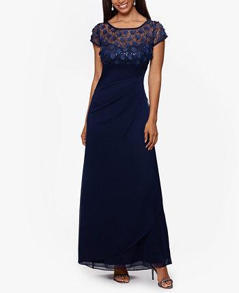 Платье с 3D цветочными пайетками XSCAPE