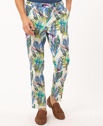 Мужские брюки Slim Fit в тропическом стиле Tallia
