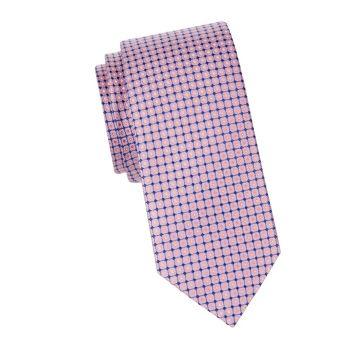 Silk Checked Tie Eton