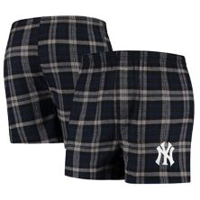 Men's Concepts Sport Navy New York Yankees Parkway Flannel Boxer Shorts Unbranded