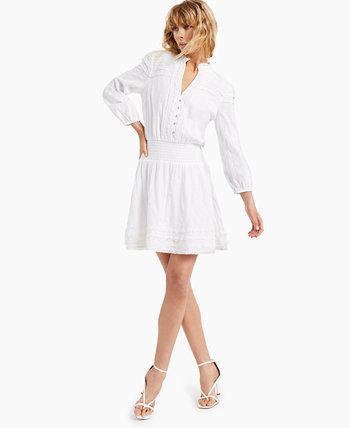 Платье-рубашка INC из хлопкового кружева, созданное для Macy's INC International Concepts