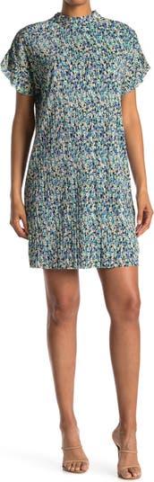 Мини-платье с цветочным принтом и воротником-стойкой Collective Concepts