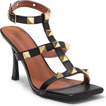Bona Studded T-Strap Stiletto Sandal Wild Diva Lounge