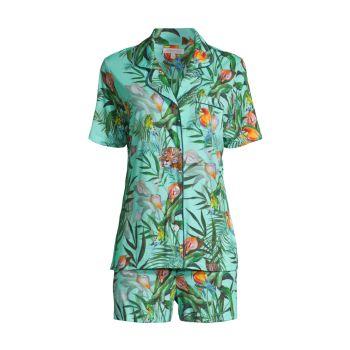 Пижамный комплект из двух шорт с принтом джунглей Johnny Was