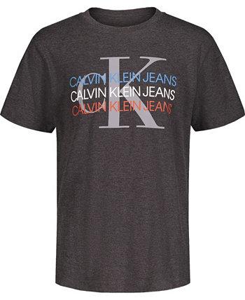 Футболка-трио с логотипом Big Boys Calvin Klein