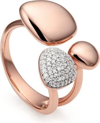 Кольцо с бриллиантом Nura Pebble Cluster MONICA VINADER