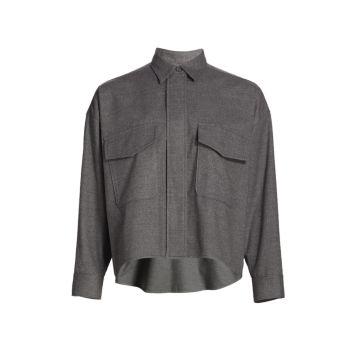 Mélange High-Low Shirt MM6 Maison Margiela