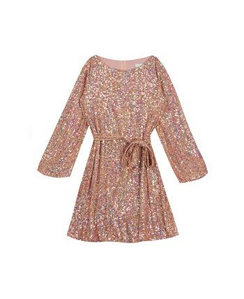 Вязаное платье с пайетками для больших девочек Rare Editions