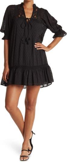 Lace Inset Half Sleeve Mini Dress Angie