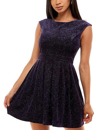 Бархатное платье с блестками и пышной юбкой для юниоров Emerald Sundae