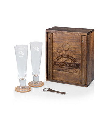 Harry Potter Quidditch Beverage Glass Gift Set, 6 Pieces LEGACY
