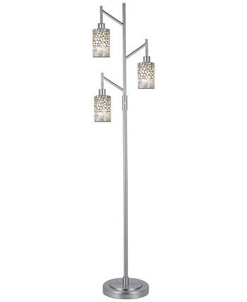 Торшер из мозаики с 3 лампами Alps Dale Tiffany