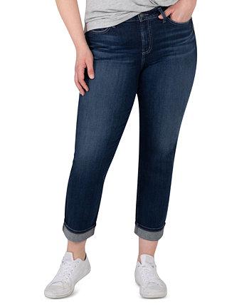 Модные укороченные прямые джинсы Avery больших размеров Avery Silver Jeans Co.