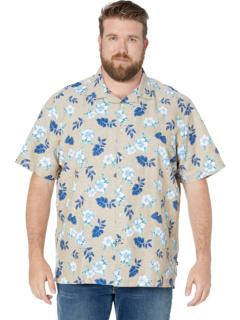Big & Tall Classic Fit Floral Print Linen Shirt Nautica Big & Tall