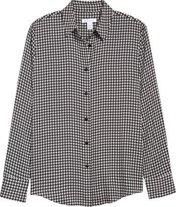 Рубашка на пуговицах из эластичного шелка Nordstrom Signature