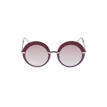 60MM Gotha Round Sunglasses Jimmy Choo