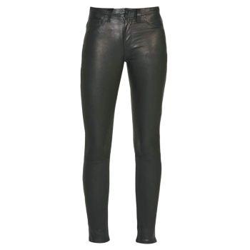 Супероблегающие кожаные брюки Nico со средней посадкой Hudson Jeans