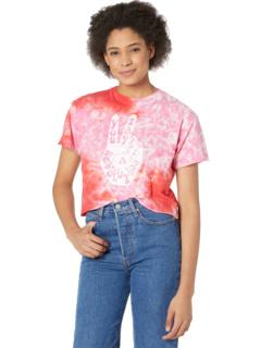 Немного укороченная футболка Revolution с необработанными краями и принтом тай-дай The Original Retro Brand