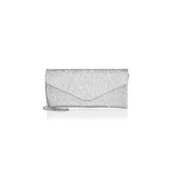 Клатч Envelope с кристаллами Judith Leiber