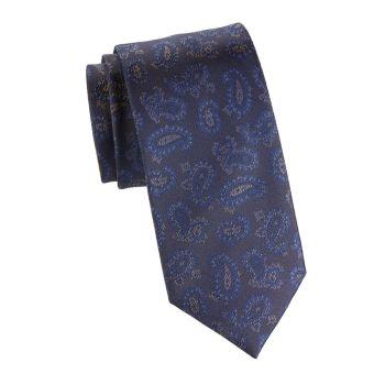 Шелковый галстук с пейсли Brioni