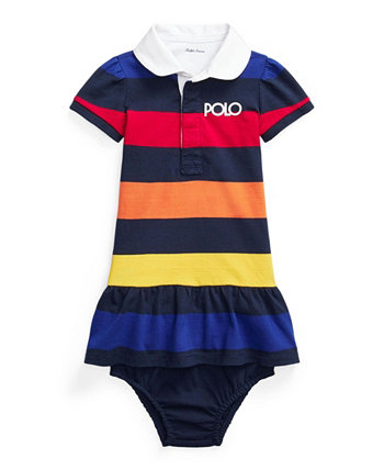 Baby Girls Logo Rugby Dress and Bloomer, 2 Piece Set Ralph Lauren