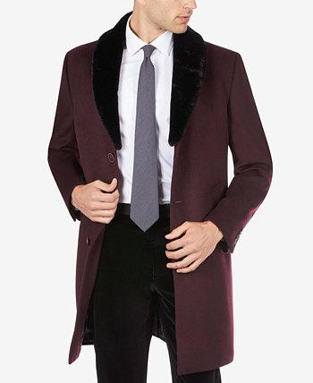 Мужское пальто со съемным воротником из шерпы Tallia