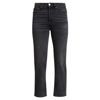 Прямые джинсы 70-х годов с очень высокой посадкой Re/Done