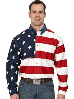 Рубашка в полоску со звездочками и полосками L / S Roper