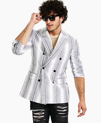 INC Men's Variegated Striped Blazer, Created for Macy's INC International Concepts