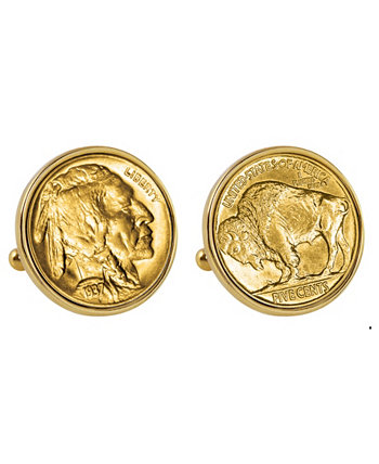 Запонки из золота и золота American Coin Treasures