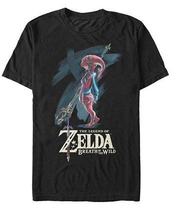 Мужская футболка с коротким рукавом Legend of Zelda Mipha Paint Nintendo