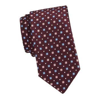 Шелковый галстук с ромашками Canali