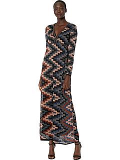 Платье с длинным рукавом из люрекса в стиле арт-деко M Missoni