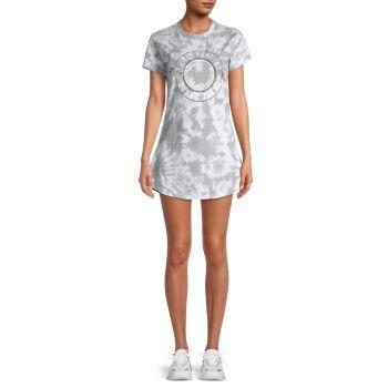 Tie-Dye Logo T-Shirt Dress True Religion