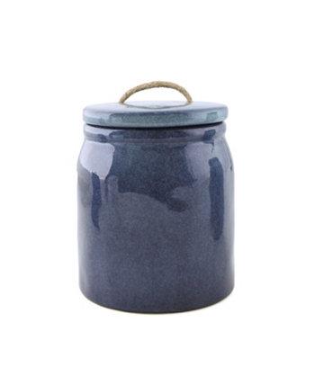 Синяя керамическая канистра с тросовой ручкой, малая THIRSTYSTONE