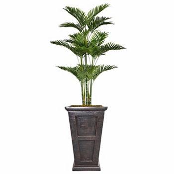 Искусственная декоративная искусственная пальма высотой 78,8 дюйма, комплект из мешковины и плантатор из стекловолокна Vintage Home